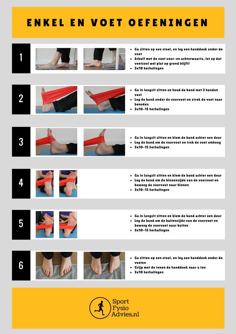 Onderbeen, enkel en voet oefeningen