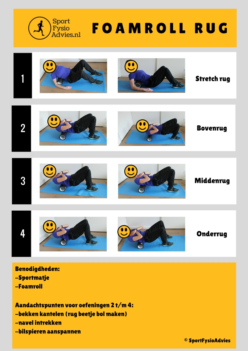 Foamroll rug oefeningen