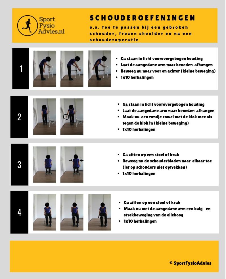 Oefeningen gebroken schouder frozen shoulder of na schouderoperatie