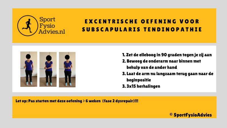 Excentrische oefening subscapularis